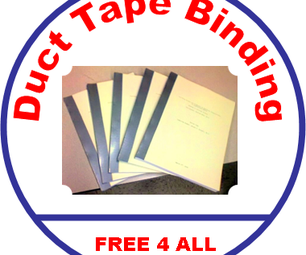 Duct Tape Book Binding - Cheepo Delux