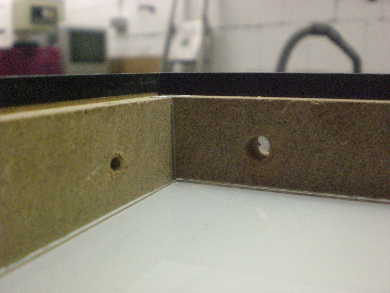 Make Holes for the Switch and the Power-Cable