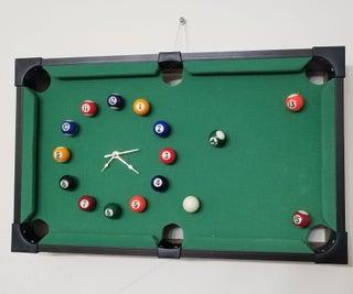 EASY DIY POOL TABLE CLOCK