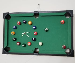 EASY DIY POOL TABLE CLOCK