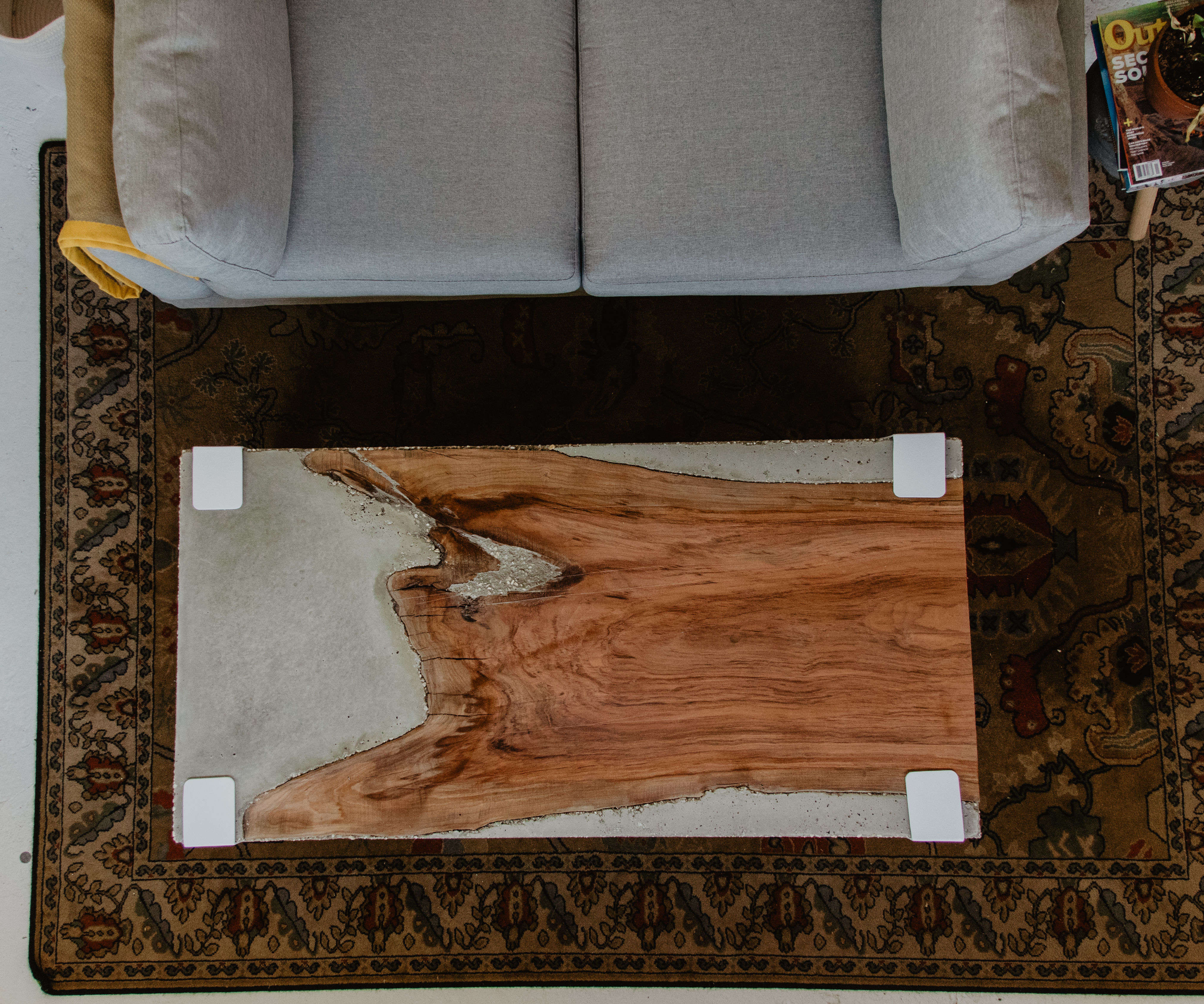 How to Make a Rad Concrete Coffee Table With Live Edge Cherry Slab ??