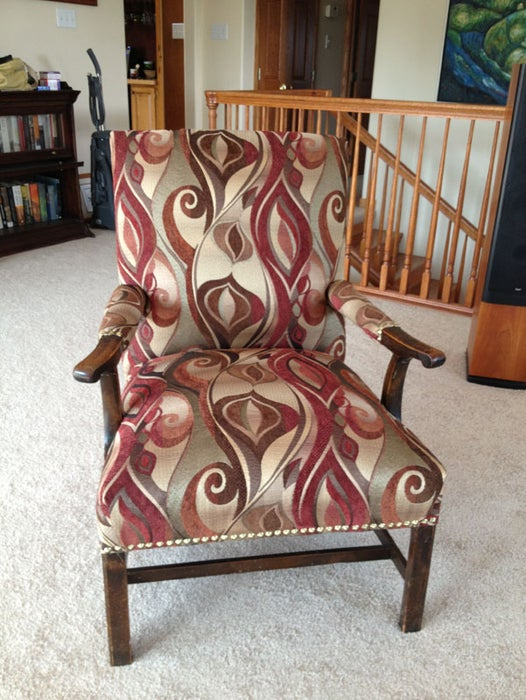 Reupholster A Chair From The Bones Up, How To Reupholster A Chair With Wooden Arms