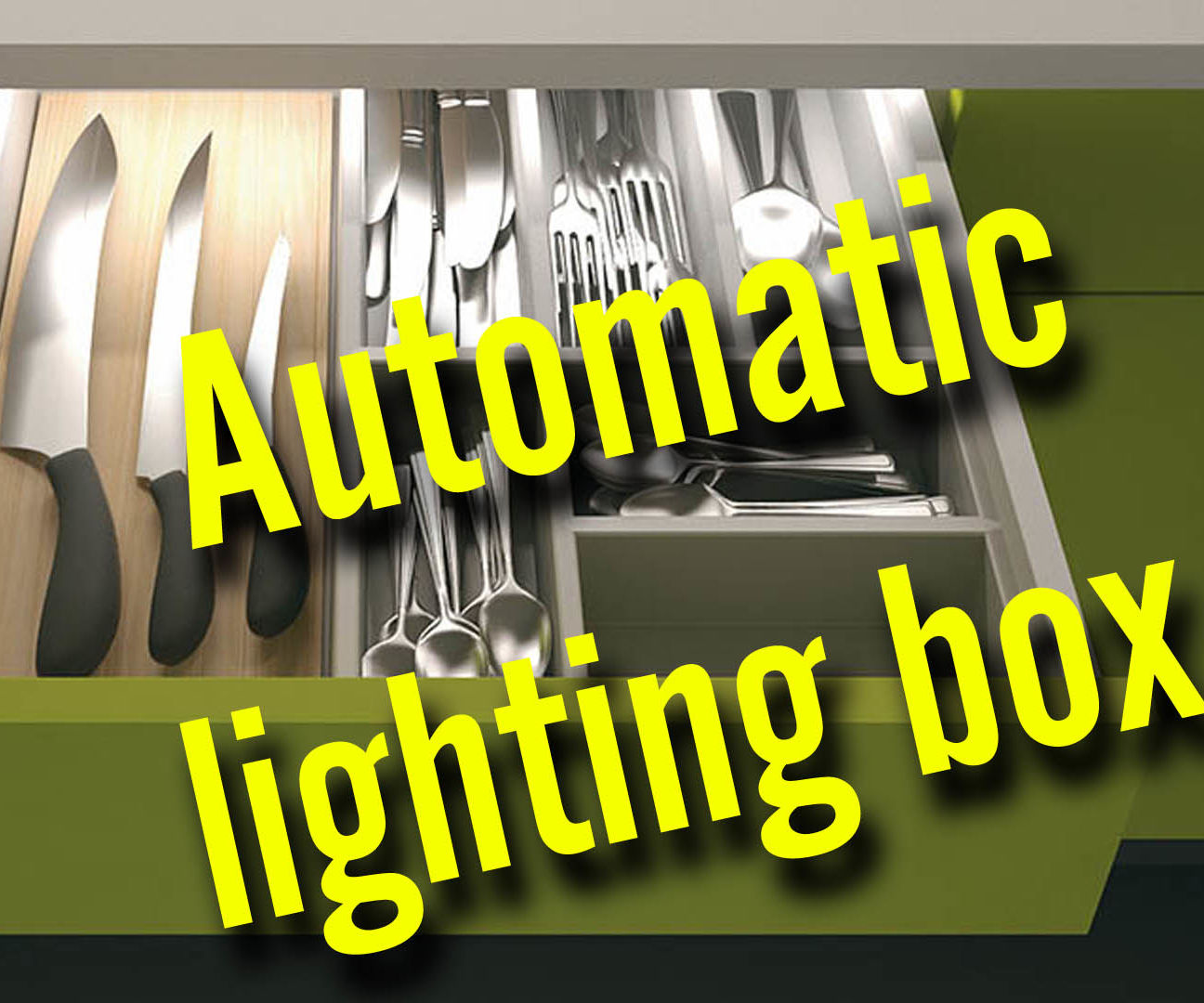 Automatic lighting box with a timer on battery