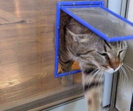 Simple Screen Net Cat Door