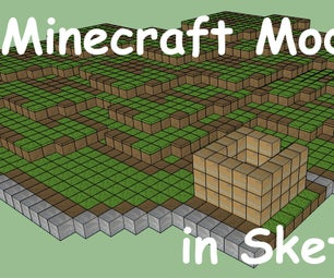 Minecraft Models in Sketch Up