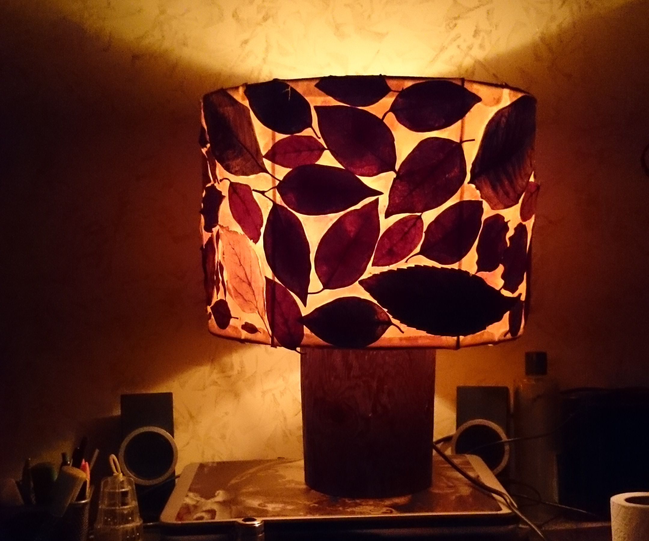 Fall Leaf Lampshade