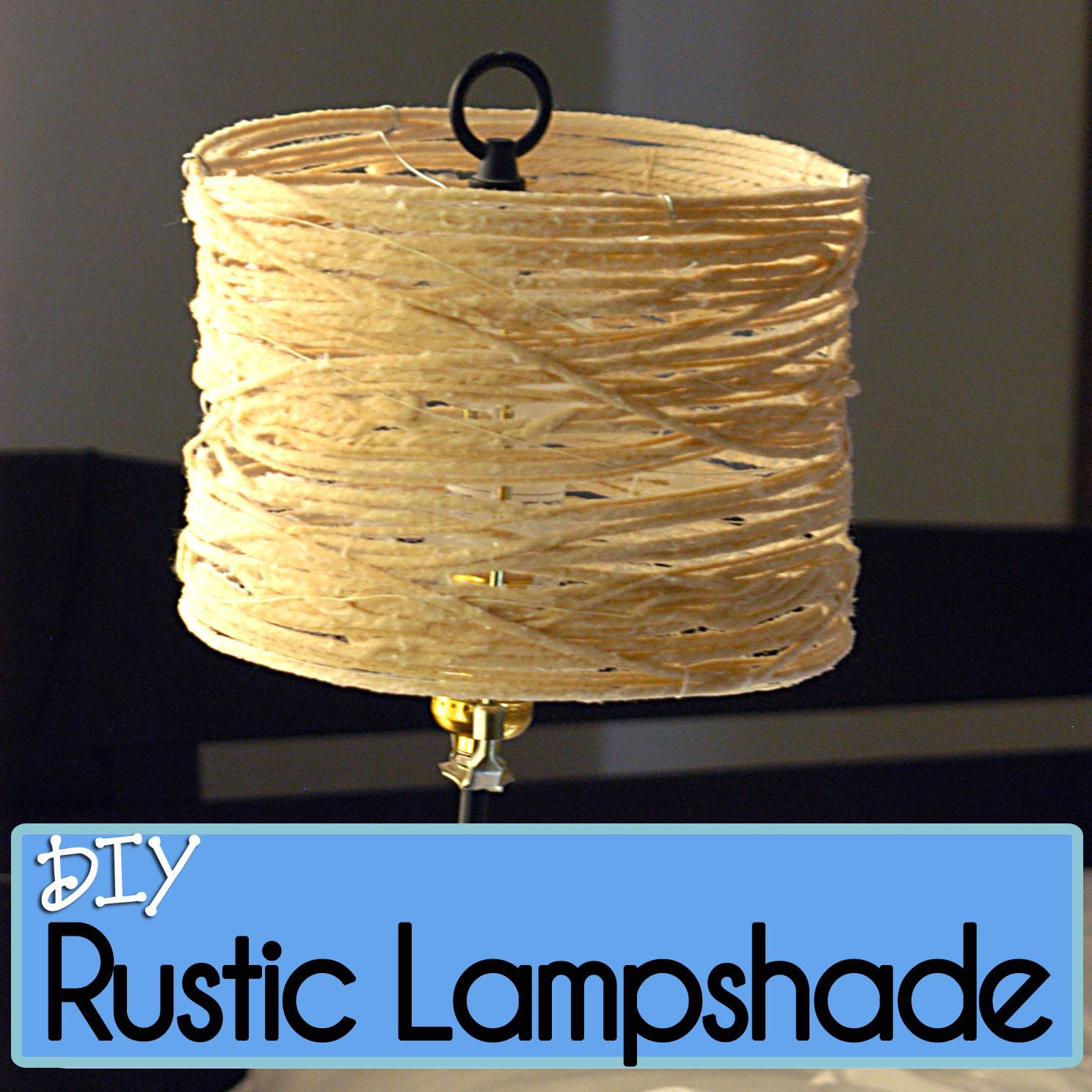 DIY Rustic Lampshade made of Yarn