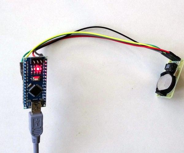 Arduino Nano: DS1302 Real Time Clock(RTC) With Visuino