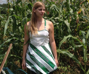 Dress Made Out of Potting Soil Bags
