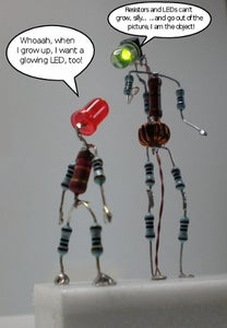 The Illuminated LED Man (or the Joule Thief Man)