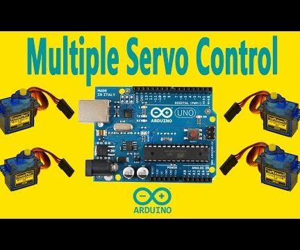 Arduino - Multiple Servo Control With Arduino