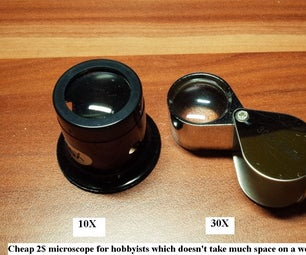 Cheap 2$ Microscope for Hobbyists. Magnifying Eye Jewelry Loupe.