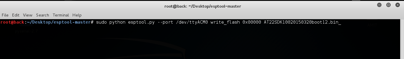 Flashing the Firmware to ESP8266-01
