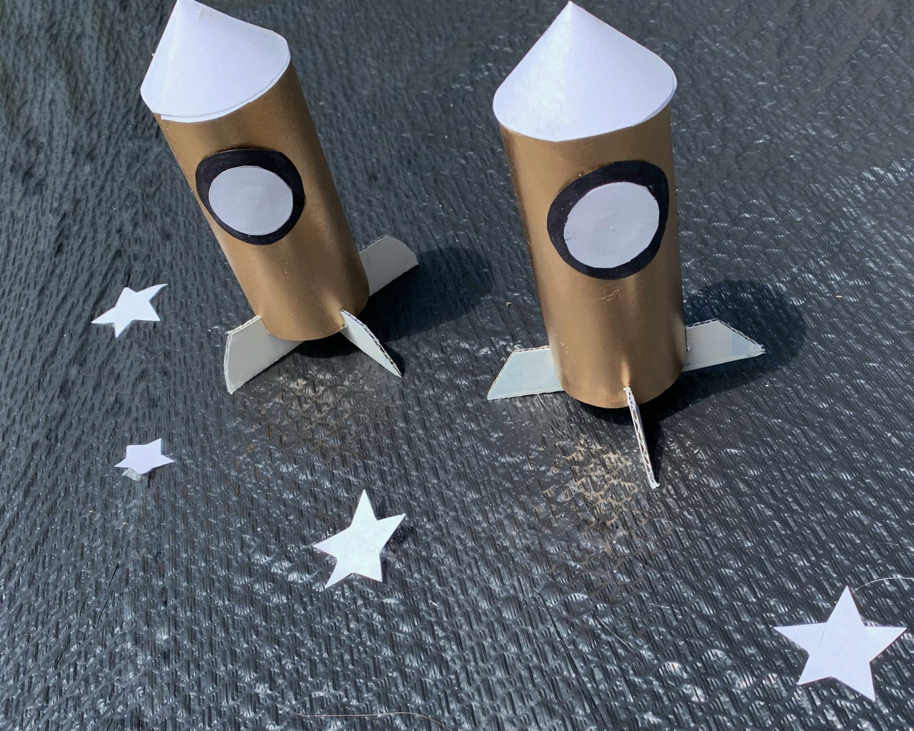 Recycled Toilet Paper Roll Rocket
