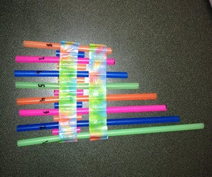 Pan Pipe With Straws