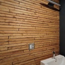 Cheap Yet Chic Wood Lath Wall
