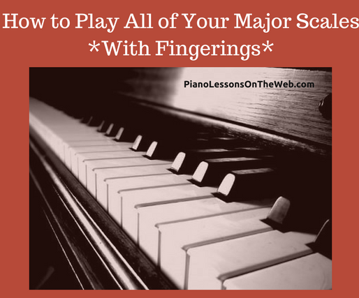 How to Play All Major Scales on the Piano With Fingerings