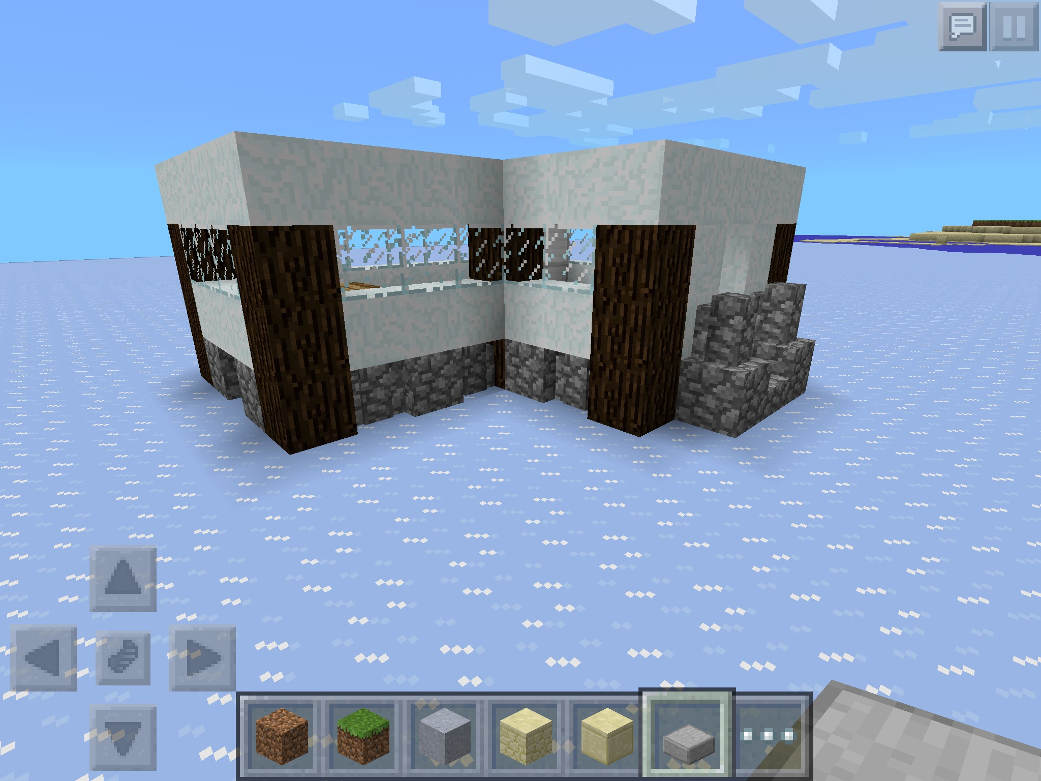 Minecraft Snow Modern House