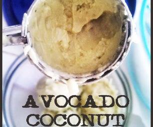 Avocado Coconut Ice Cream (No Machine)