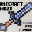 MInecraft Sword - From Fondant