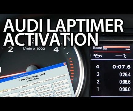 Audi Laptimer Activation With VCDS