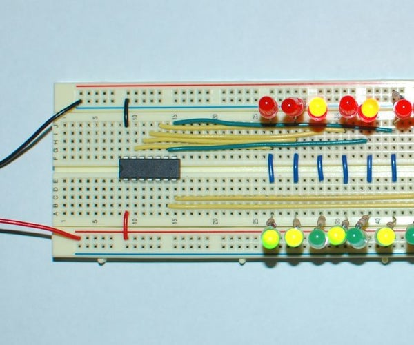 ATtiny84 Binary Counter, Up and Down