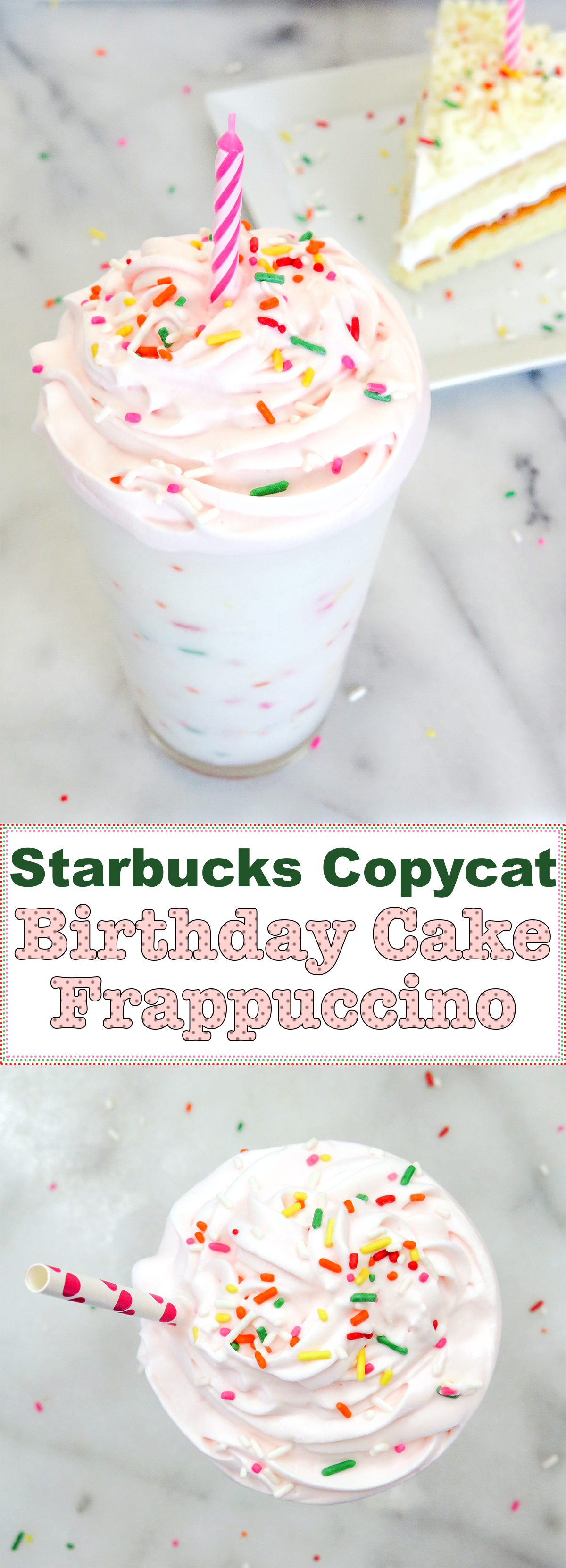 Birthday Cake Frappuccino Recipe 3 Steps With Pictures