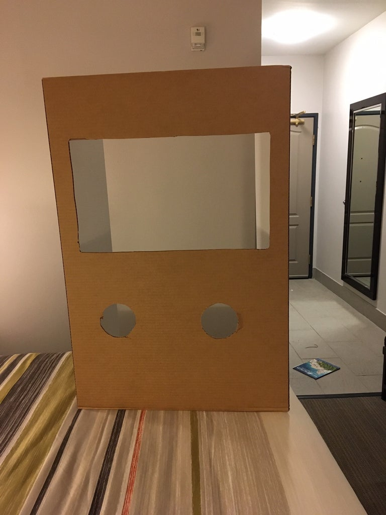 Cut Out the Holes and Viewing Window