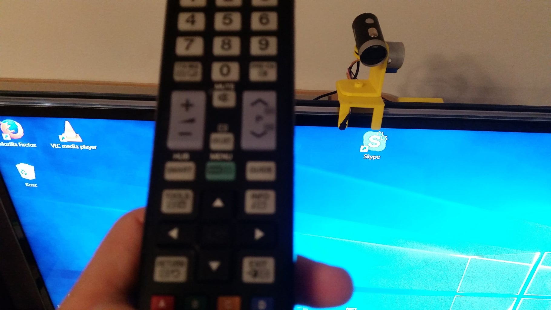 Remotely Controlled Webcam Pan&tilt