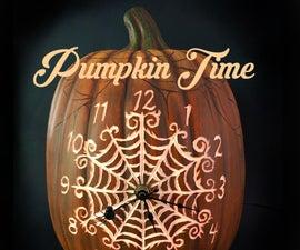 Pumpkin Spider Web Clock