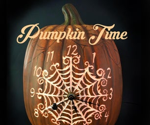 Pumpkin Spider Web Clock