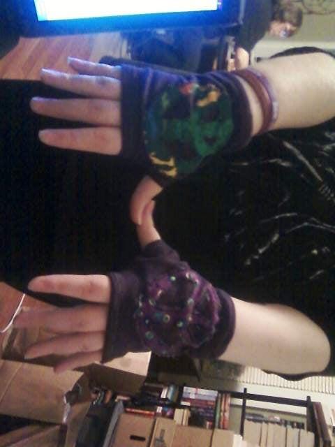 Purple Wrist Warmers!!