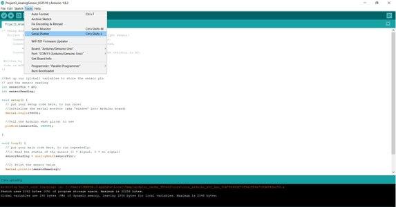 Visualizing Data: Arduino IDE!