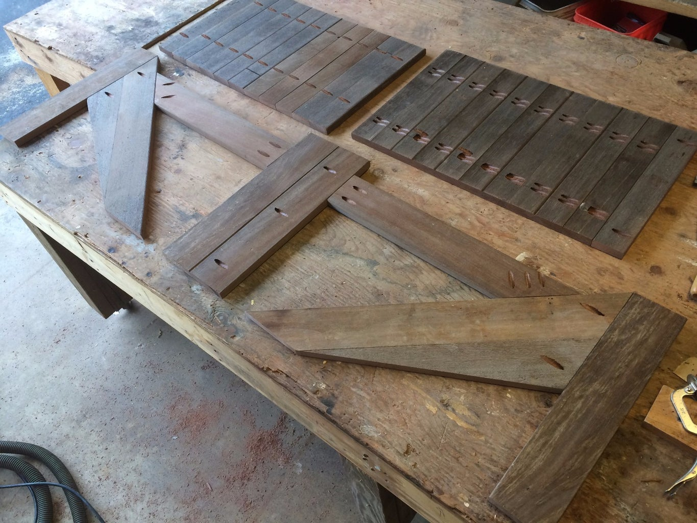 Kreg Drill the Slats, and the Outer Frame