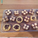 Vanilla and Chocolate biscuits