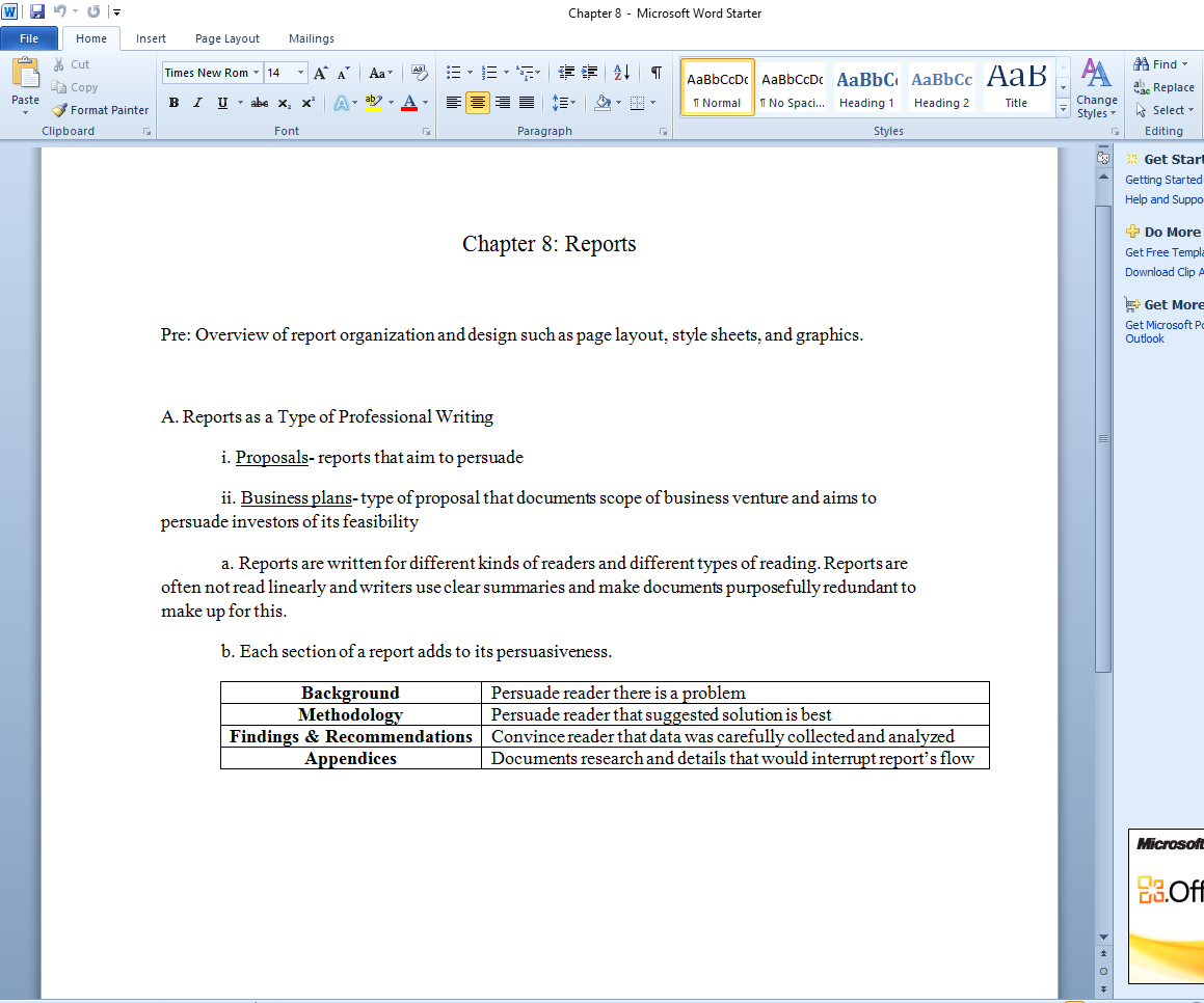 how to write an outline of a chapter
