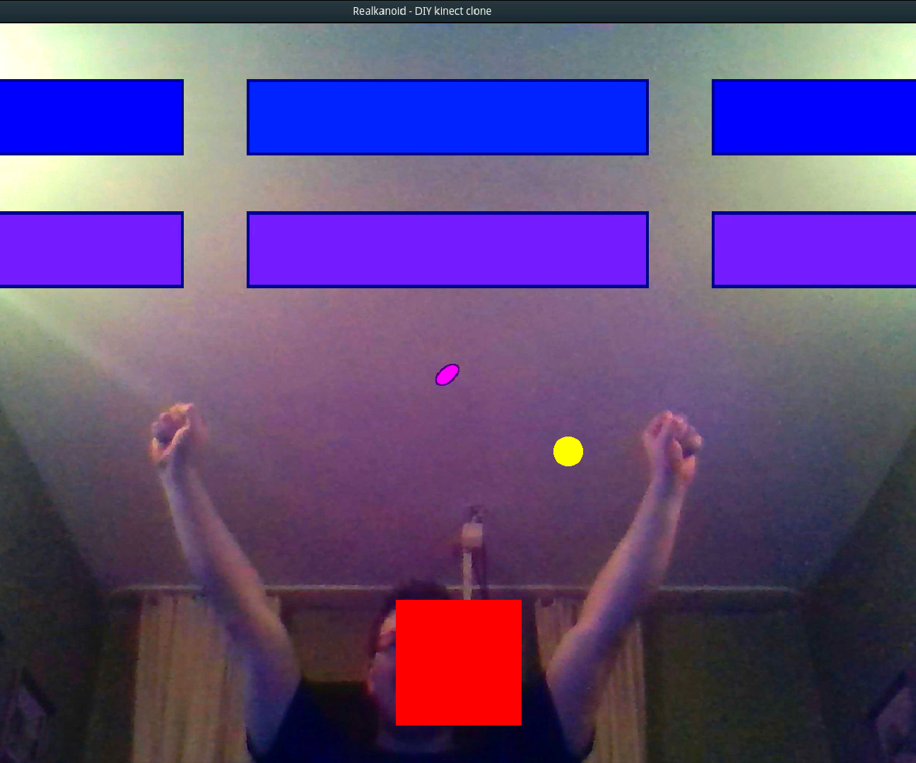 DIY Video Game Controlled by Head Movement (Augmented Reality)
