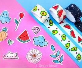 Diy Washi Tape and Sticker Making