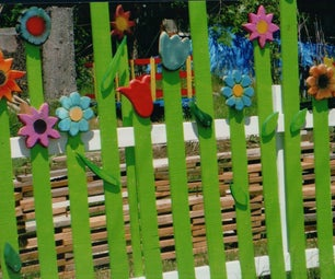 How to Make a Fun Flower Fence