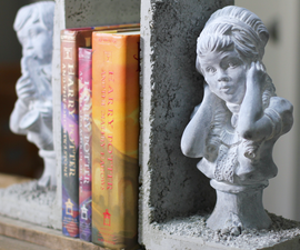 How to Make Concrete Bookends