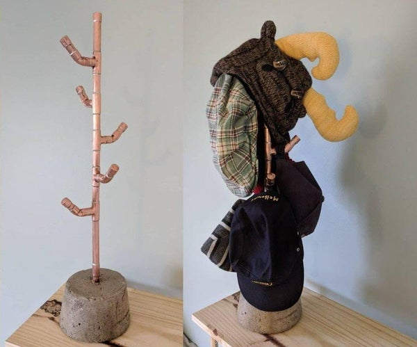 Copper & Concrete Hat Rack