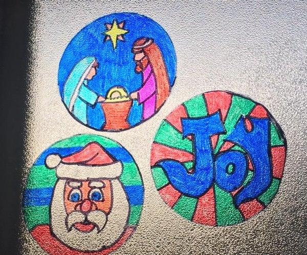 Holiday Marker Suncatcher Clings
