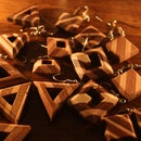 Wooden earings for free