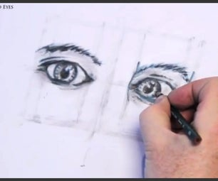 How to Draw Both Human Eyes