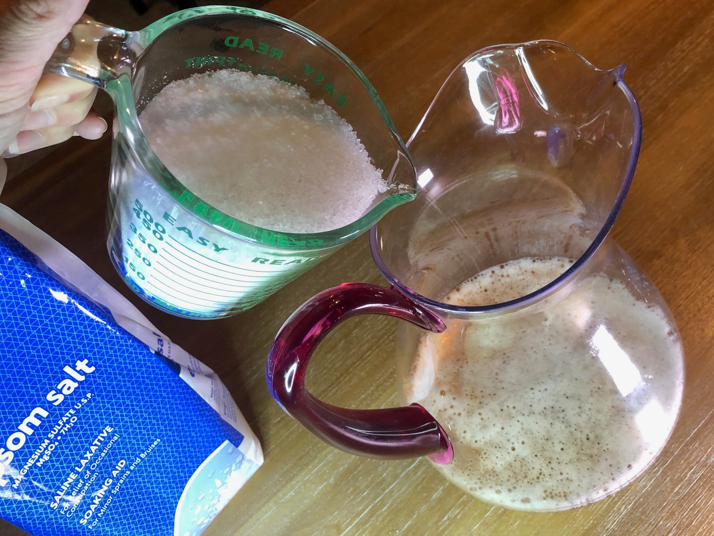 Add Epson Salt to Pitcher