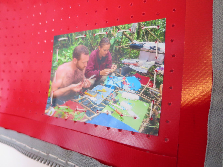 Example: Pegboard Fabric Photo Album