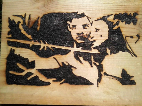 Wood Burning With a Magnifying Glass