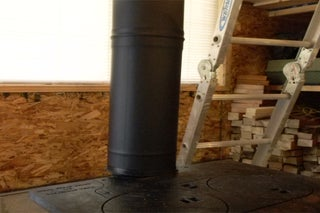Chimney Pipe Installation For Wood Stove Through A Flat Ceiling 8 Steps With Pictures Instructables
