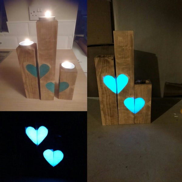 Reclaimed Tealight Candle Trio With a Glowing Twist