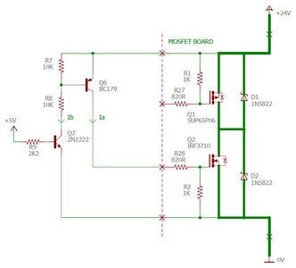 Interfacing Between 5V and the MOSFETs